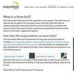 "Avoid These Pulmonary ""Stem Cell"" Clinics!"
