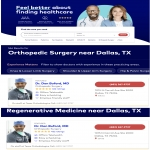 Who is the highest rated orthopedic surgeon/regenerative med doctor on Healthgrades.com?  We know!