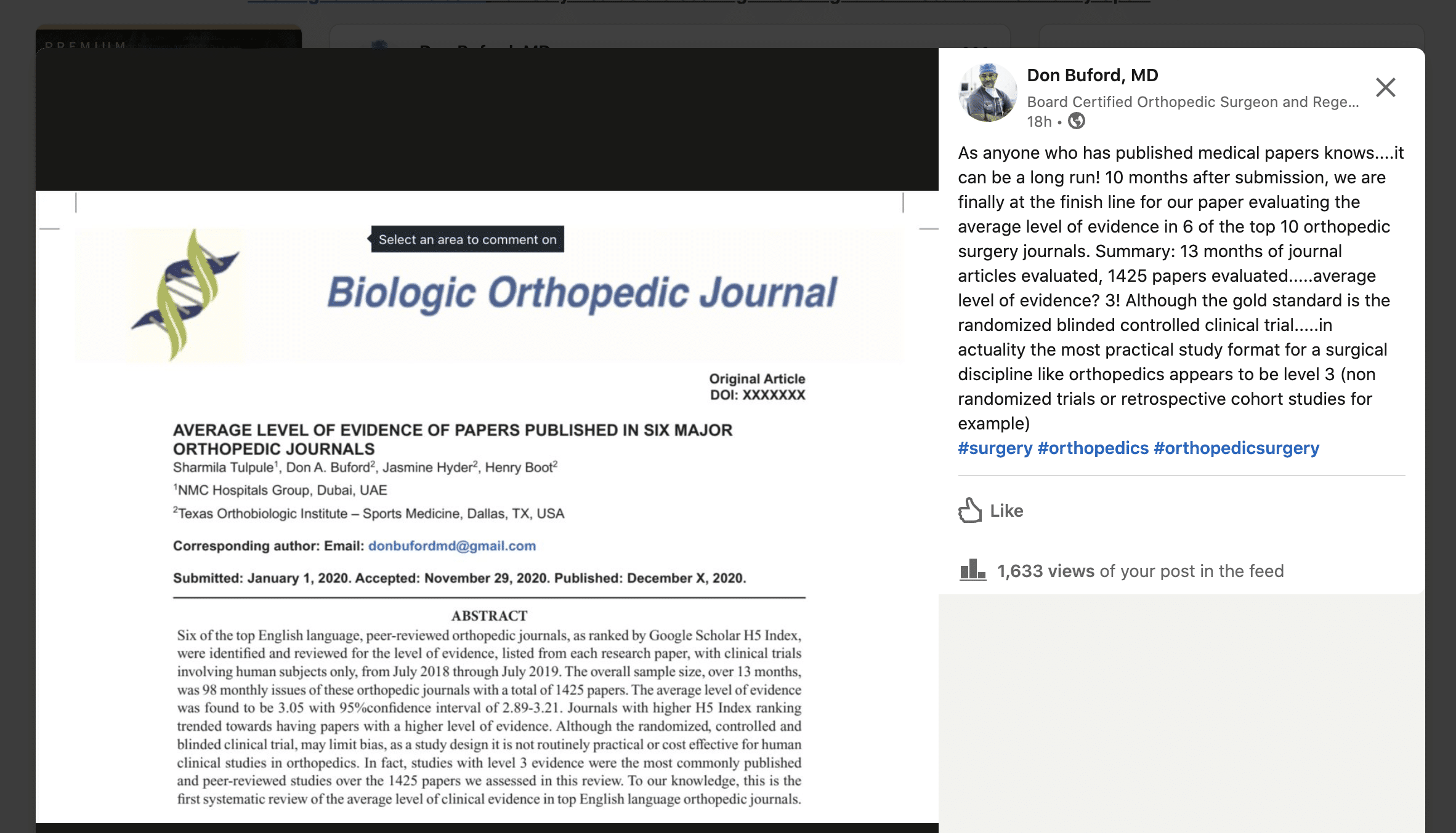 Our Most Recent Paper Will Be Published This Month!